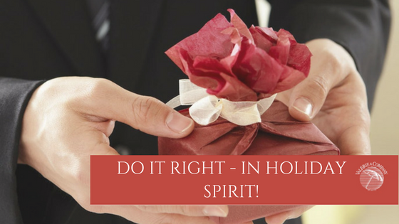 Do it Right…in Holiday Spirit